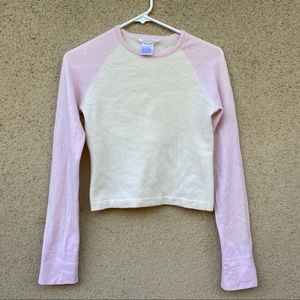 Alice + Olivia cashmere cropped sweater small